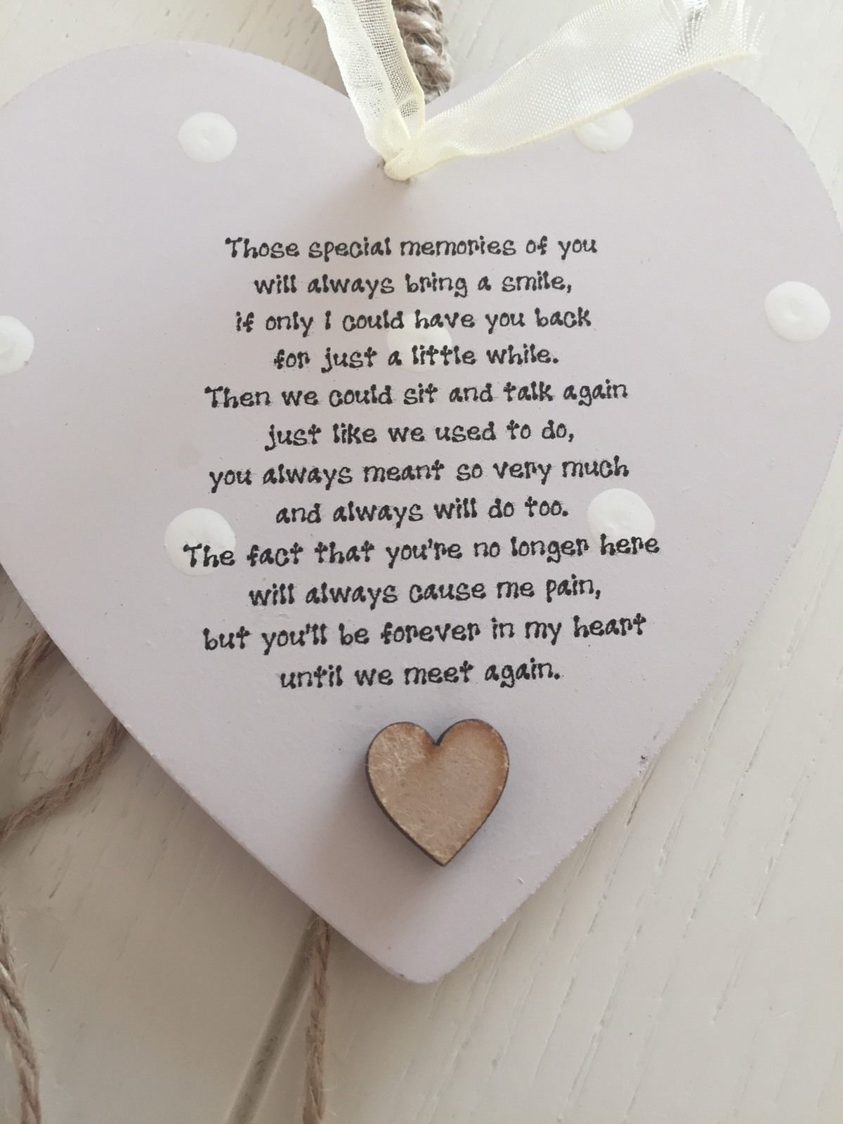 Shabby personalised Chic Hearts Photo Frame In Memory Of A Loved One Dad  Mum - 332259372397